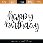 Free SVG cut file - Happy Birthday