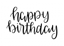 Free SVG cut file - Happy Birthday
