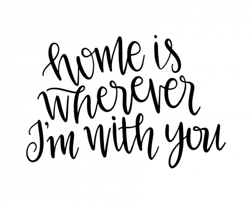 Free SVG cut file - Home is wherever I'm with you