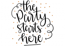 Free SVG cut file - The party starts here