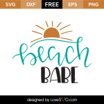 Free SVG cut files - Beach Babe