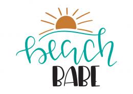 Free SVG cut files - Beach Babe