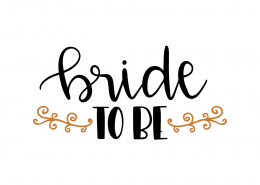 Free SVG cut files - Bride to be