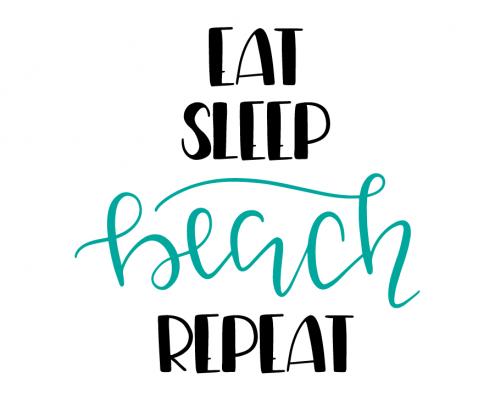 Free SVG cut files - Eat Sleep Beach Repeat