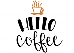 Free SVG cut files - Hello Coffee