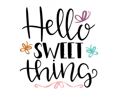 Free SVG cut files - Hello Sweet Thing