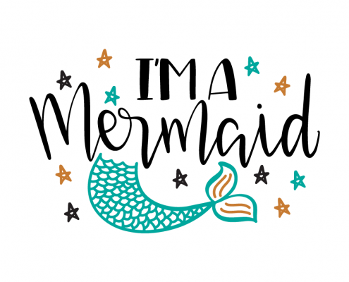 Free SVG cut files - I'm a mermaid