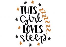 Free SVG cut files - This girl loves sleep