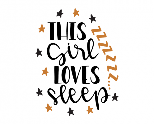Free SVG cut files - This girl loves sleep