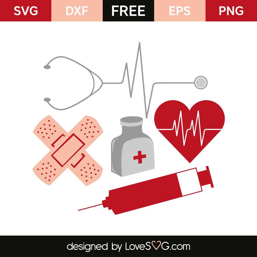 Nurse Christmas Svg.Nurse Elements Lovesvg Com