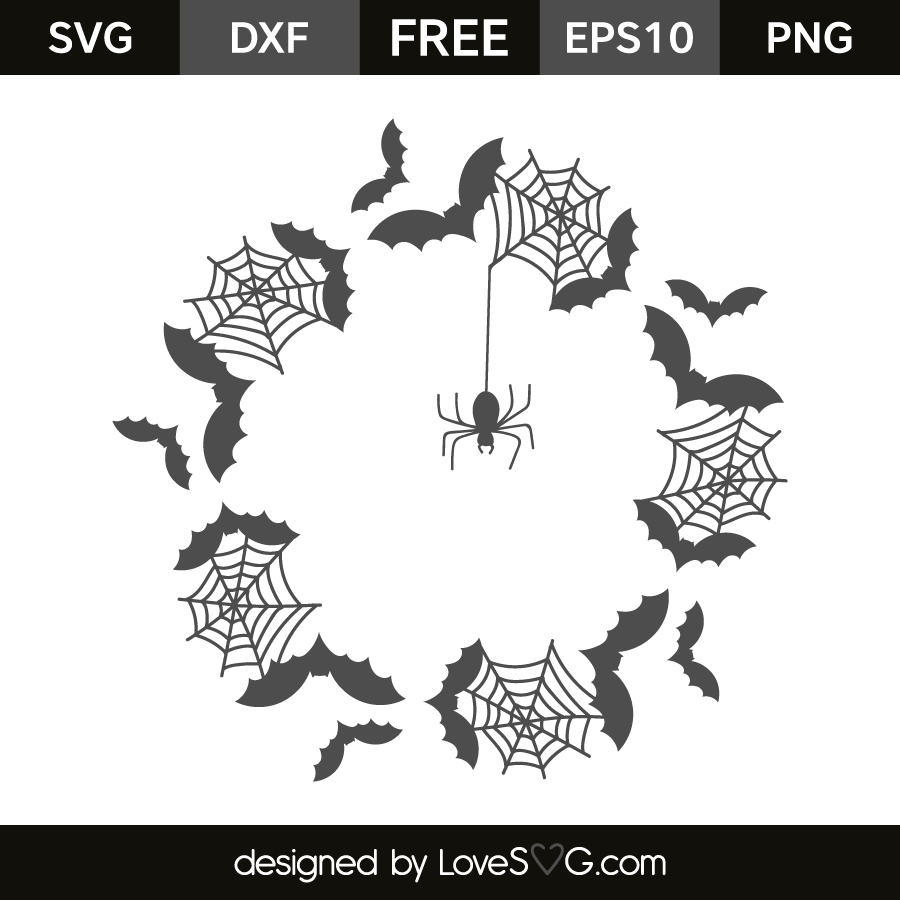 Halloween Monogram Frame | Lovesvg.com