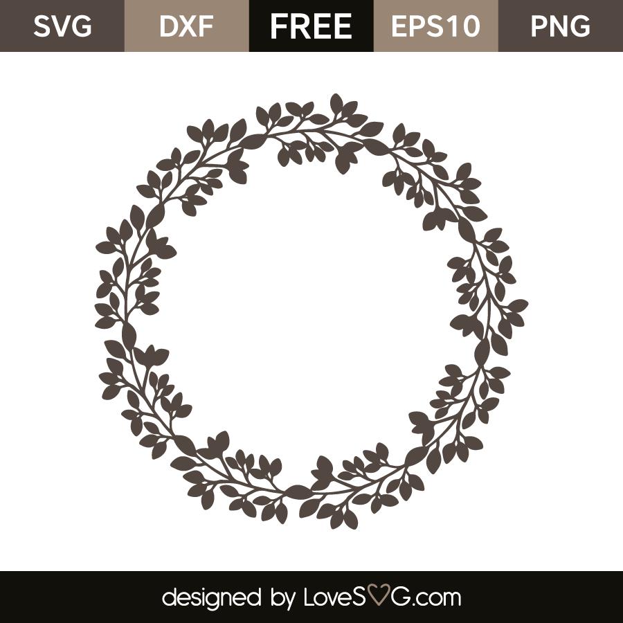 Leaves Monogram Frame | Lovesvg.com