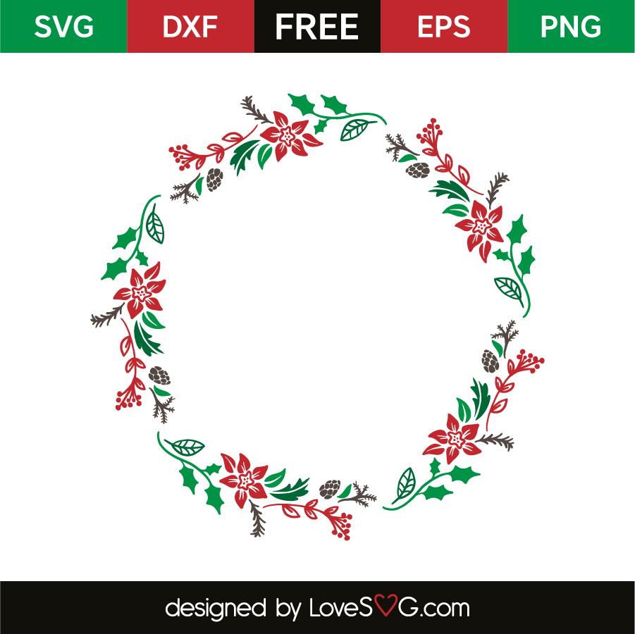 Christmas monogram frame | Lovesvg.com