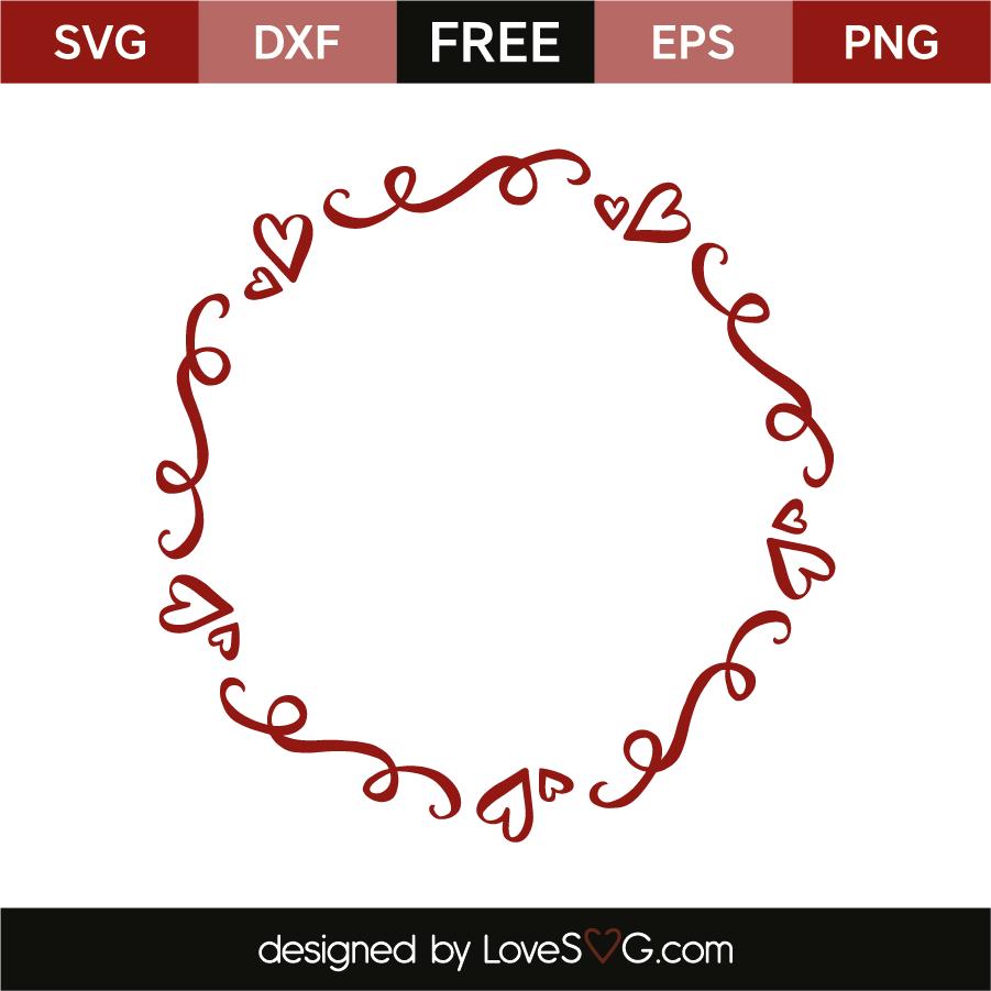 Heart monogram frame | Lovesvg.com