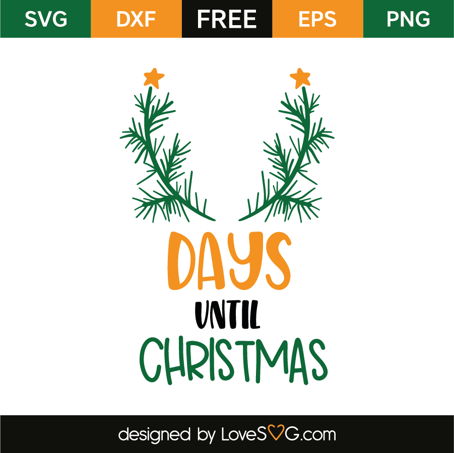 Days until Christmas – Lovesvg.com