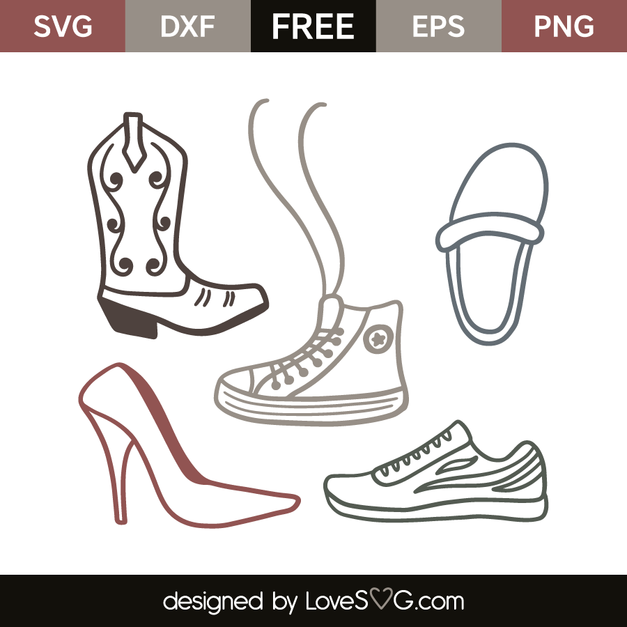 1a4aba9792c16 Shoes | Lovesvg.com