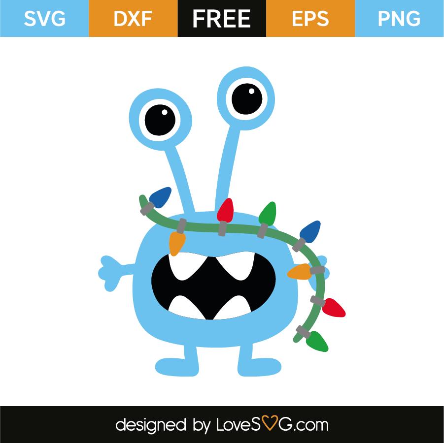 Free Christmas Lights Svg.Little Monster And Christmas Lights Lovesvg Com