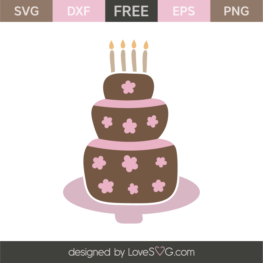 Birthday Cake Lovesvg Com