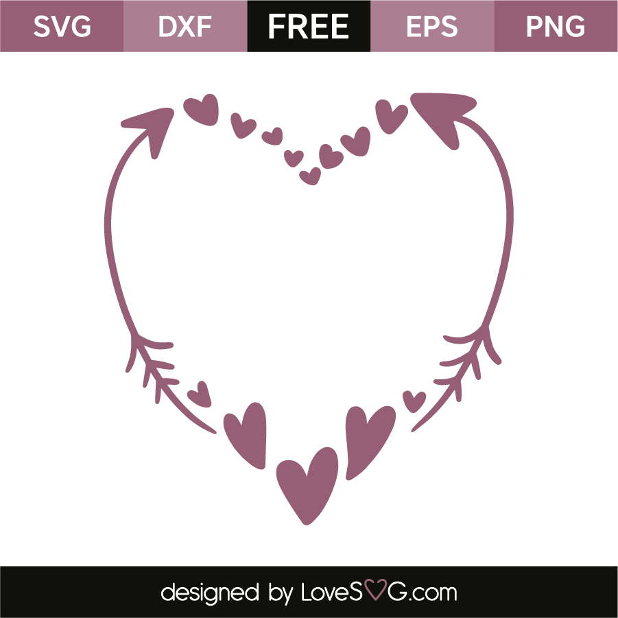 Hearts and arrows | Lovesvg.com