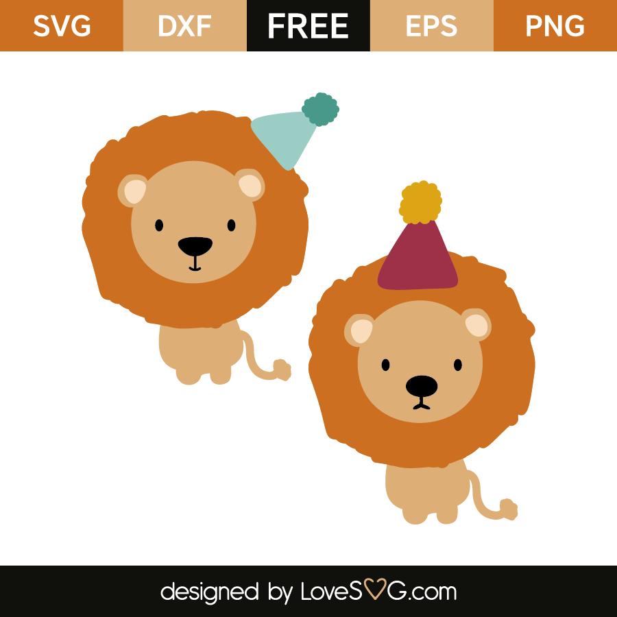 Download Birthday lions | Lovesvg.com