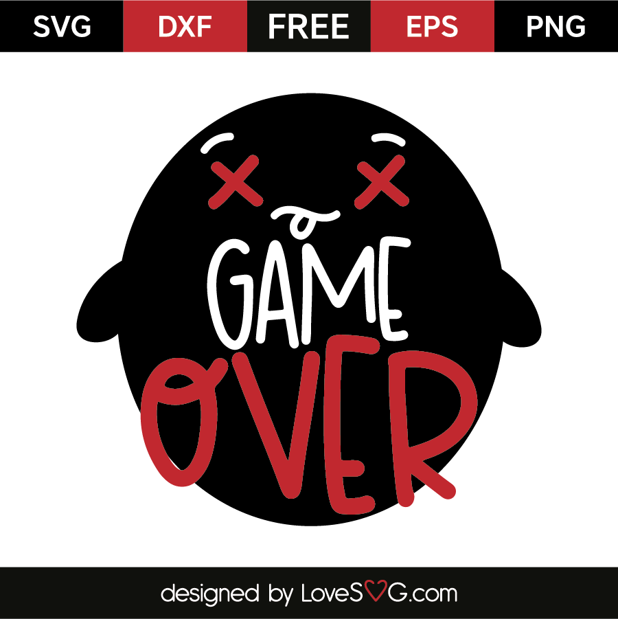 Game Over Free SVG EPS DXF PNG Files