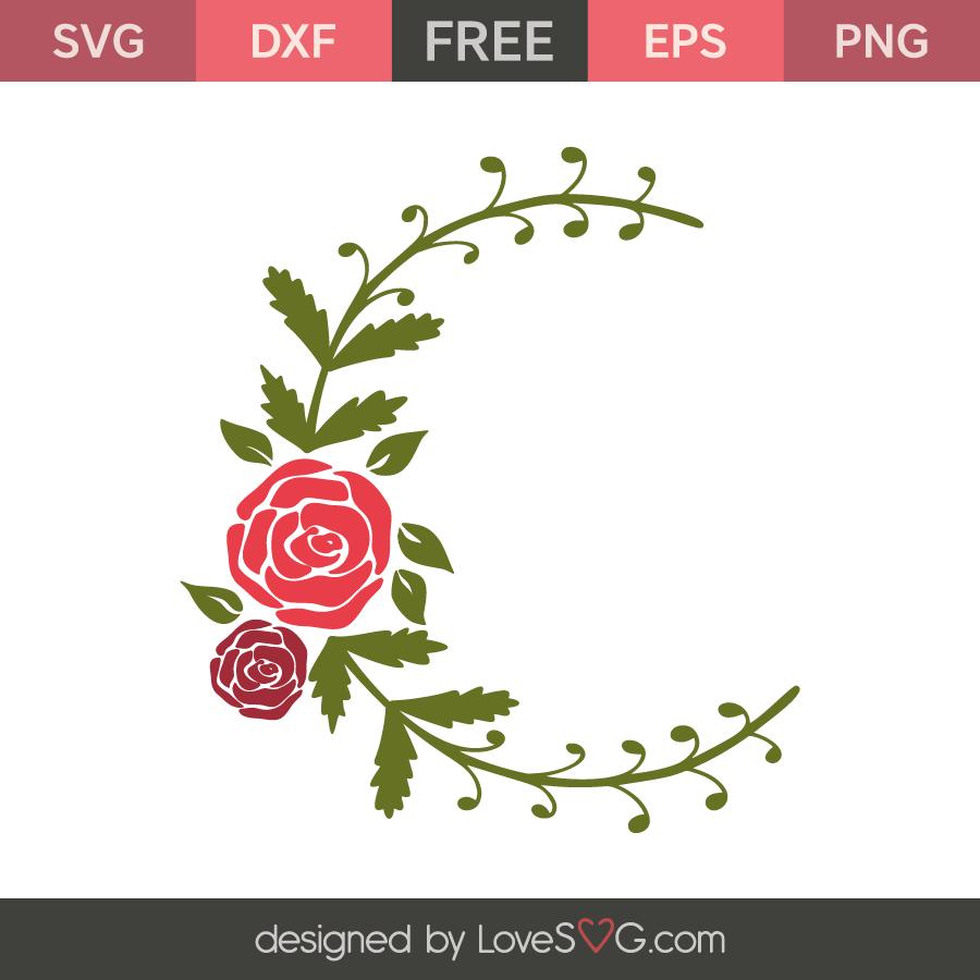 Roses monogram frame | Lovesvg.com
