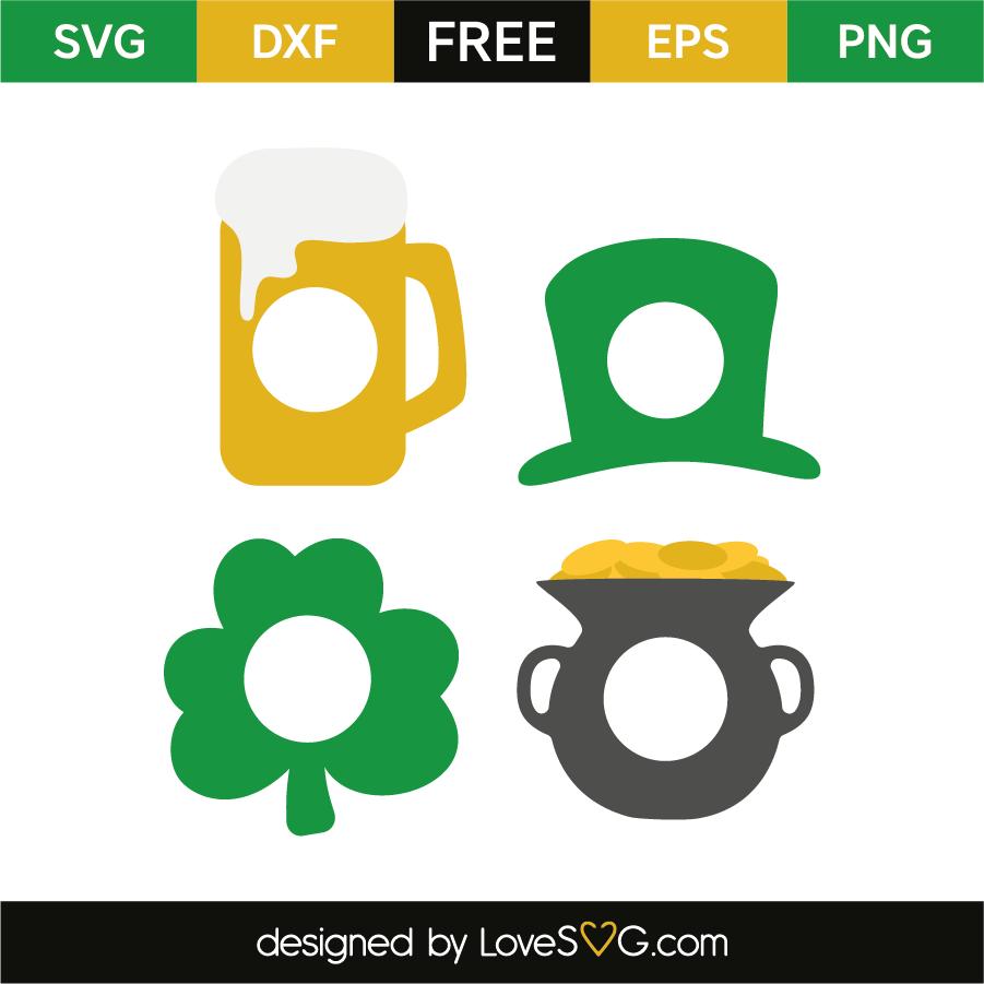 Saint Patricks Monogram Frames Lovesvgcom