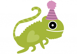Birthday lizard