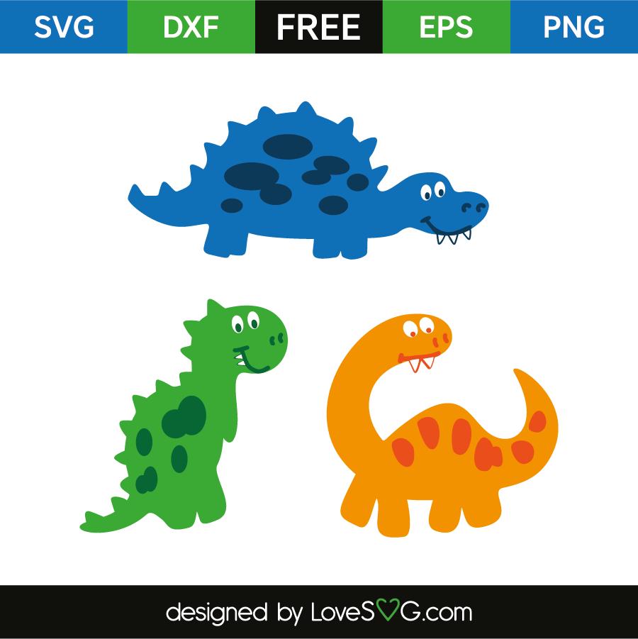 Download Cute dinosaurs | Lovesvg.com