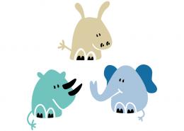 Hippo - Elephant - Rhinoceros