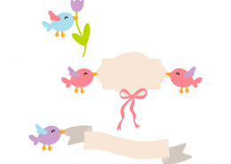 Birds and banners