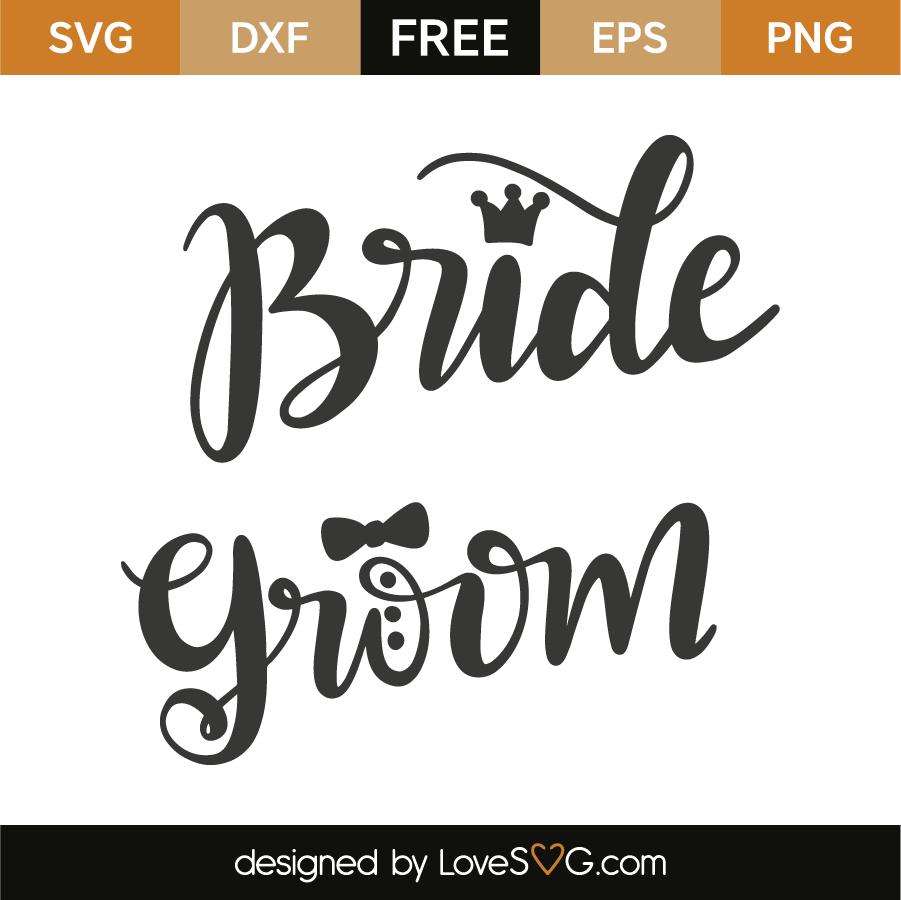 Bride and groom | Lovesvg.com