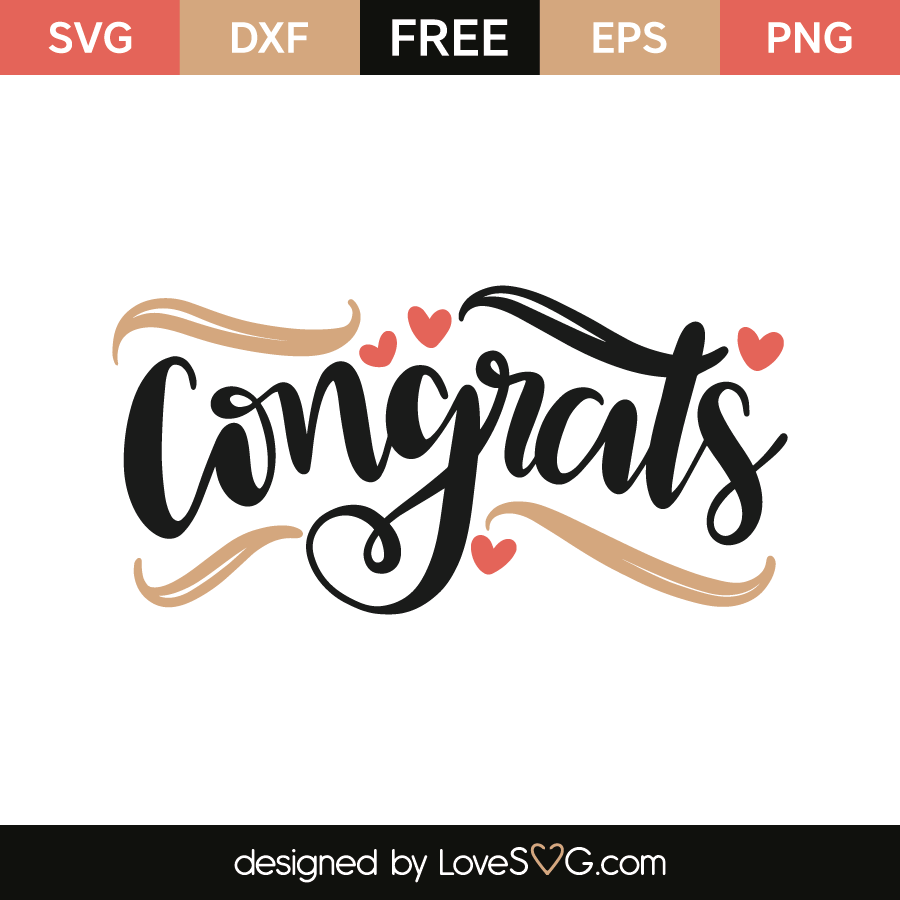 congrats free svg eps dxf png files