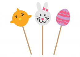 Easter lollipops