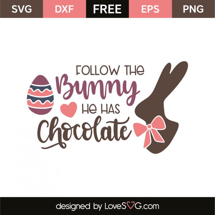 Follow the bunny he has chocolate