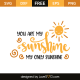 You are my shunshine my only sunshine