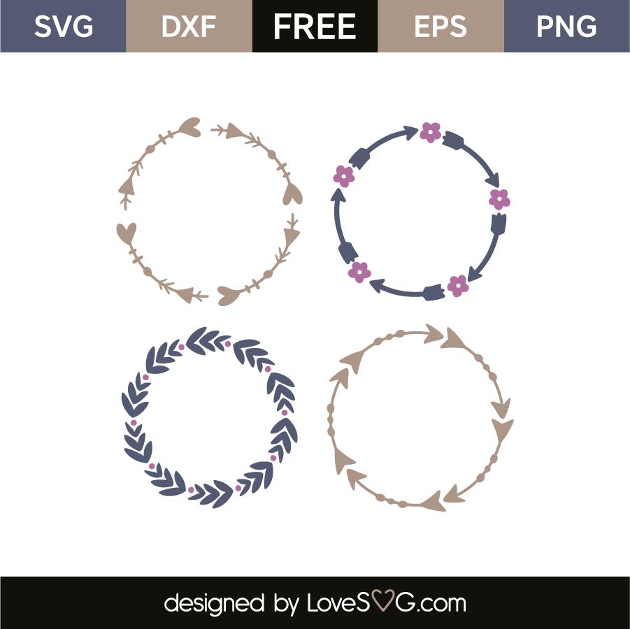 Arrow monogram frames | Lovesvg com