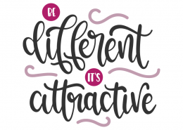 Be diffferent its attractive