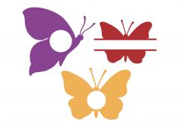 Butterfly monogram frames