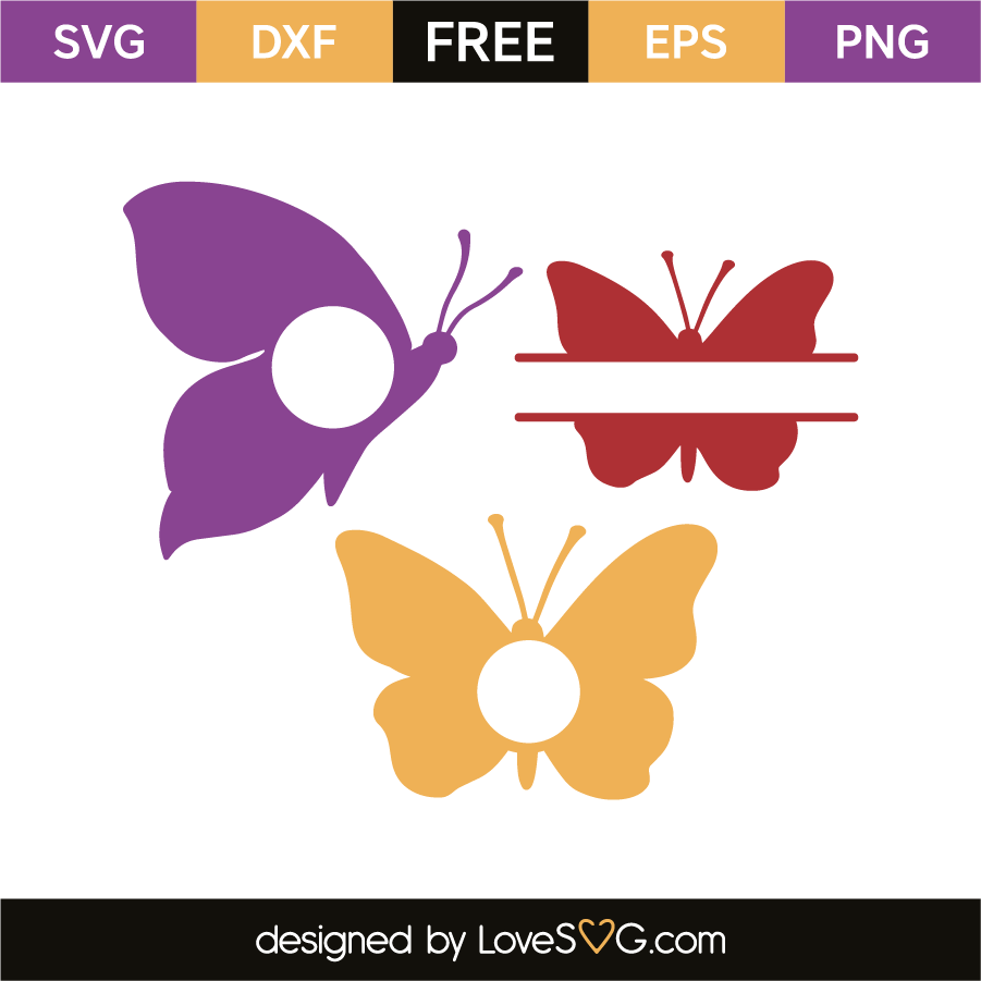 Butterfly monogram frames – Lovesvg.com