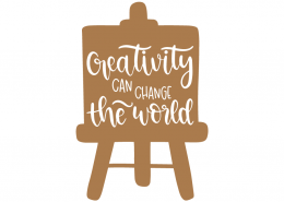 Creativity can chance the world