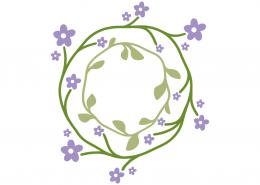 Floral monogram frame