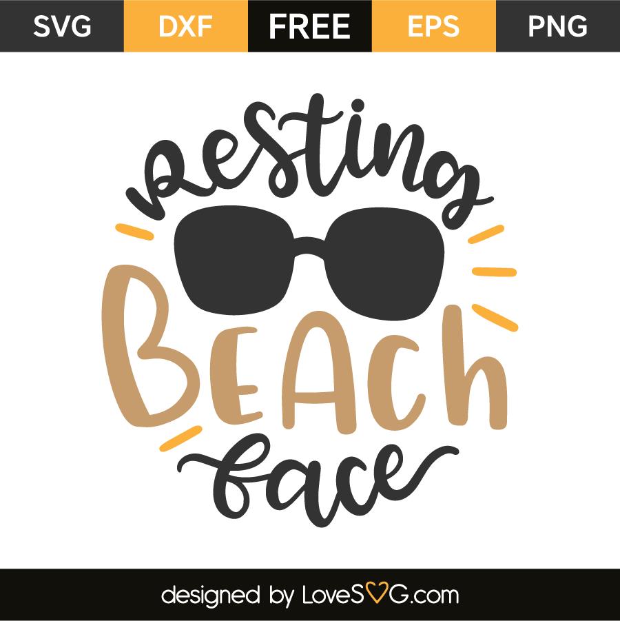 Resting beach face | Lovesvg com