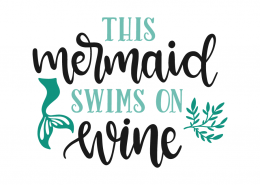 This mermaid swims in wine