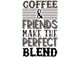 Coffee and friend make the perfect blend