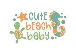 Cute beach baby