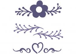 Floral decorative elements