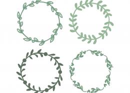 Floral monogram frames