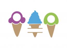 Ice cream monogram and split frames