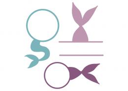 Mermaid tails monogram frames